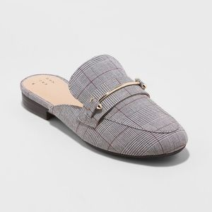 Women's Remmy Plaid Backless Loafers - A New Day™